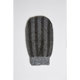 Brightwood Black & Gray Striped Bath Glove
