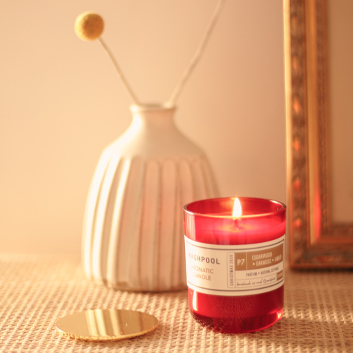Cedarwood · Oakmoss · Amber Aromatic Candle [P7-33]